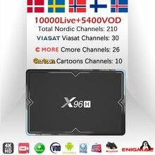 X96H(H603) Android 9,0 tv Box+ IP tv World Скандинавская Европа Швеция голландский Израиль IP tv m3u двойной Wifi BT4.1 6K* 4K HD телеприставка