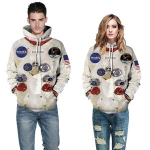 Image 2 - BombFun мужские толстовки Armstrong 3d толстовки мужские Spacesuit худи с принтом с капюшоном парные спортивные костюмы женские толстовки Косплей астронавт