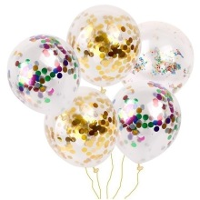 Confetti ballonon 12 inch confetti balloon round Sequin transparent ball rose gold latex