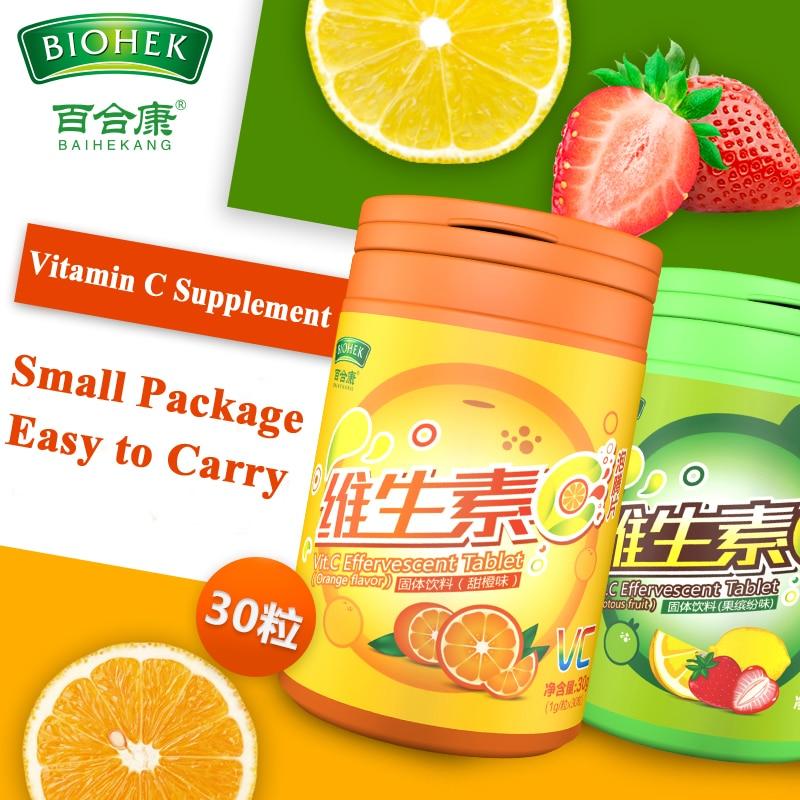 High Strength Vitamin C 60 Effervescent Tablets Support Immune Function Reduce Severity Skin Health Antioxidant