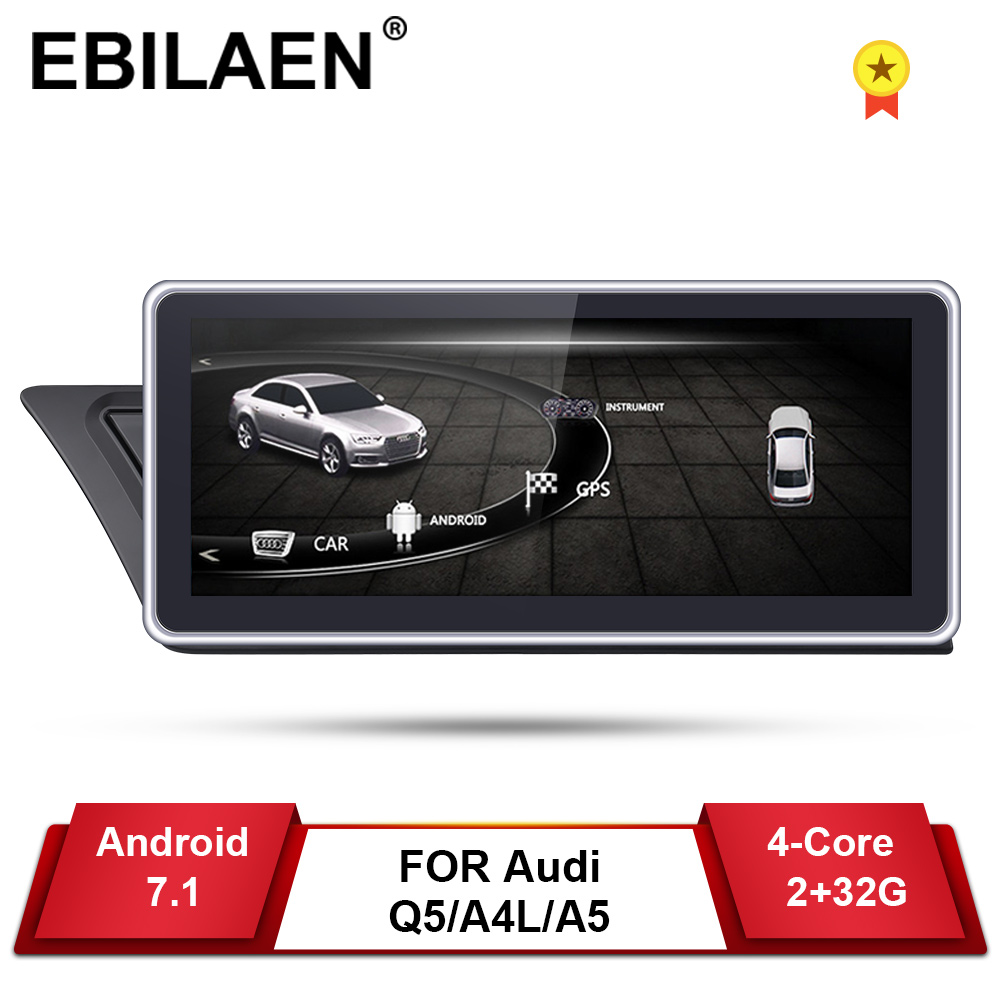 Car DVD GPS Player For Audi A4L B8 A5  2009-2017 Android 7.1 2Din Car AutoRadio Multimedia Navigation 2GB+32GB IPS Screen