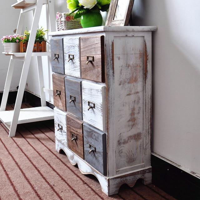 Retro Style Living Room Storage Table 3