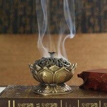 T китайский Будда сплав благовония горелка цветок лотоса ладан держатель ручной работы курильница для буддийского украшения дома и офиса