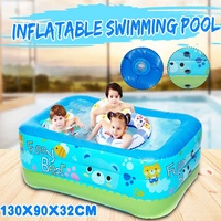 130cm Children Bathing Tub Baby Home Use Paddling Pool Inflatable Square Swimming Pool Kids Inflatable Pool