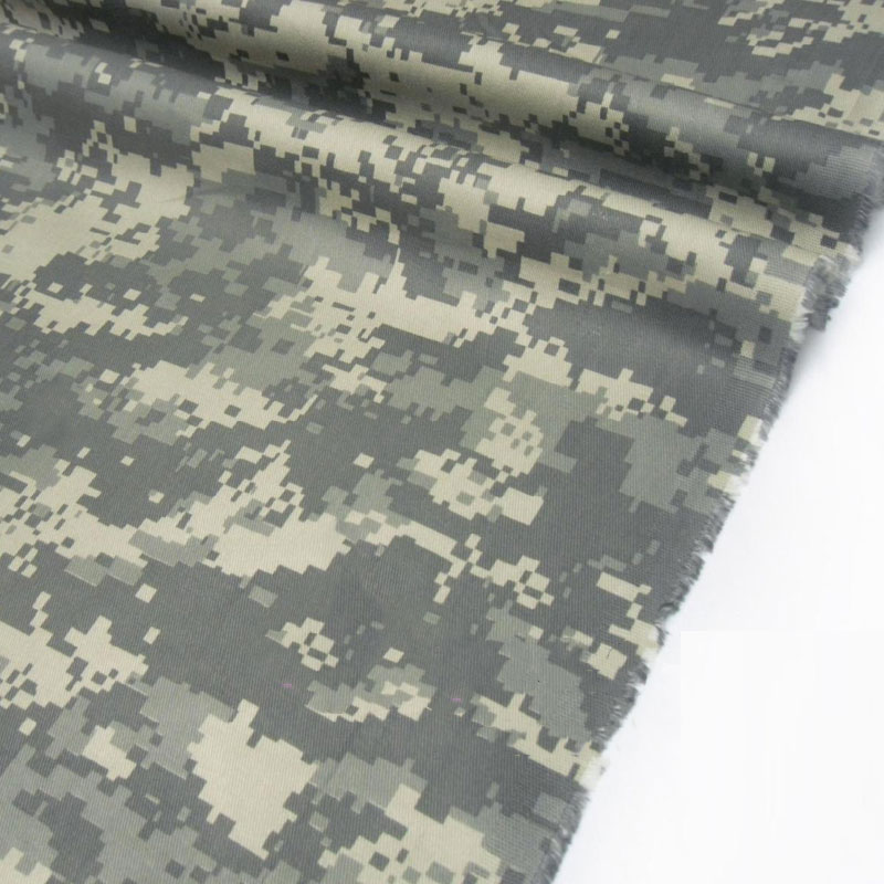 1.48M Width ACU Camouflage Clothing Fabric US Army Gray Beige White Mosaic Digital Camo Cloth Polyester Cotton Twill Fabric