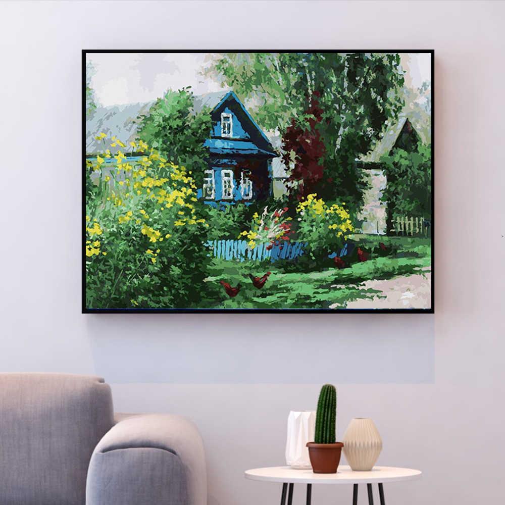 HUACAN картина маслом по номерам дерево Декорации наборы для рисования холст ручная роспись DIY картины украшения дома подарок