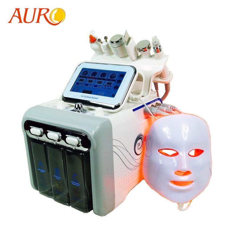 AURO Ultrasonic H2O2 Hydro Water Diamond Peeling Oxygen Vacuum RF BIO Hydrafacial Beauty Machine With LED Mask And SKin Scrubber
