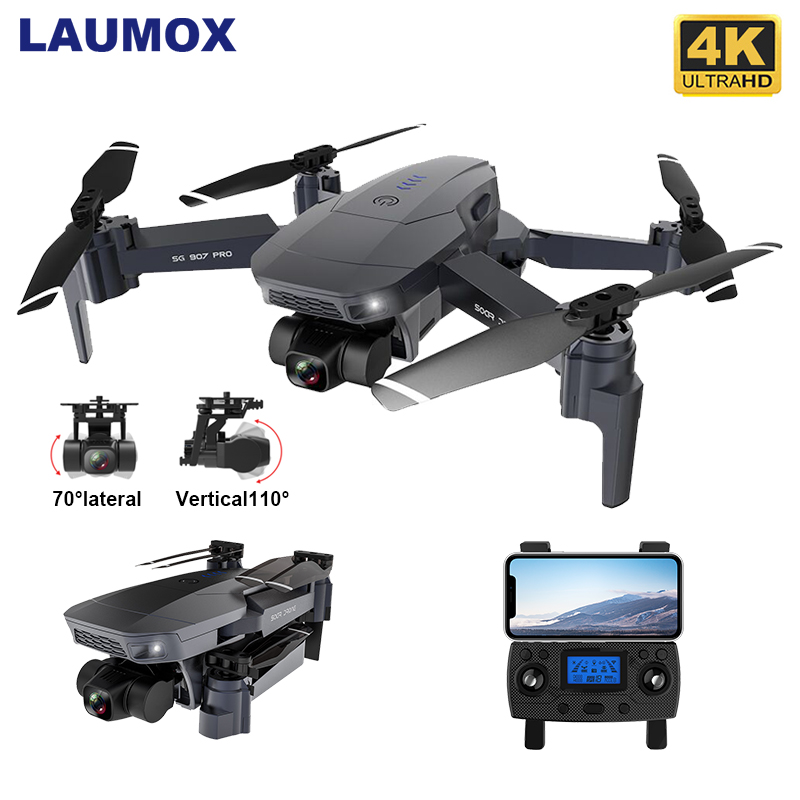 LAUMOX SG907 PRO GPS Drone with 2 Axis Gimbal Camera 4K HD Wide Angle Wifi Supports TF Card Quadcopter FPV Optical Flow RC Dron