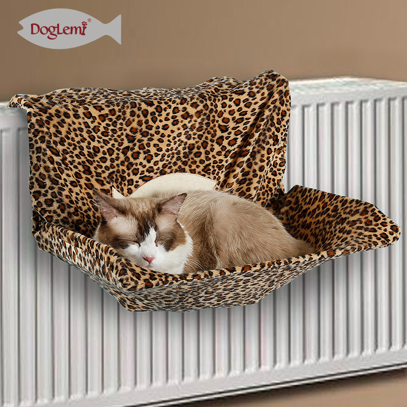 Dole M New Style Balcony Steel Frame Cat Hammock Cat Litter Pet Cage Fireplace Heating Hanging Bed Kitten Mattress