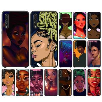 2bunz Melanin Poppin Aba Black Girl Phone Case For Huawei Honor 7A/8X/9/9Lite/10/10Lite 9X 20 20S View30/30Pro Case image