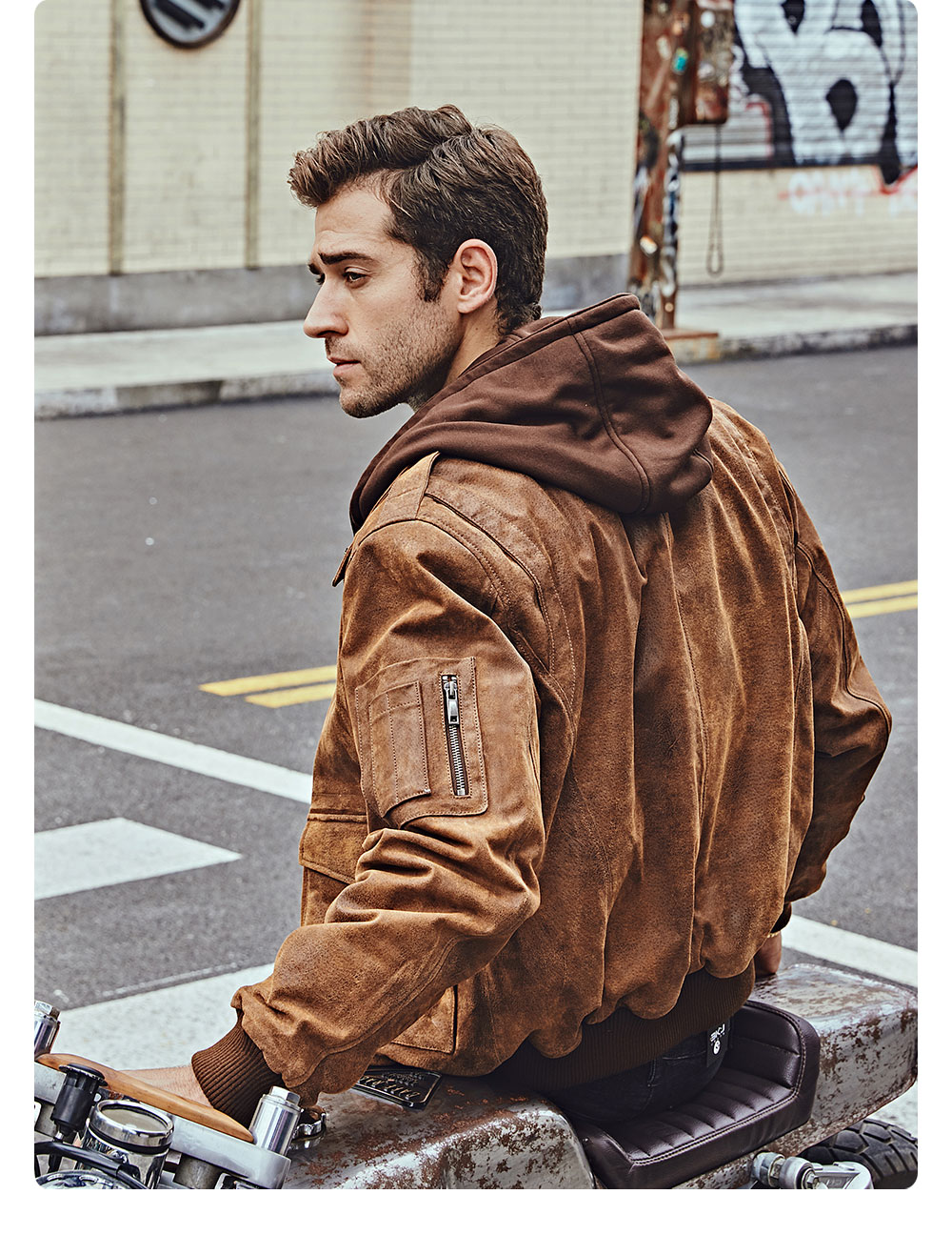 He128d3a4d51b44f5adda2407cd825750R FLAVOR New Men's Genuine Leather Bomber Jackets Removable Hood Men Air Forca Aviator winter coat Men Warm Real Leather Jacket
