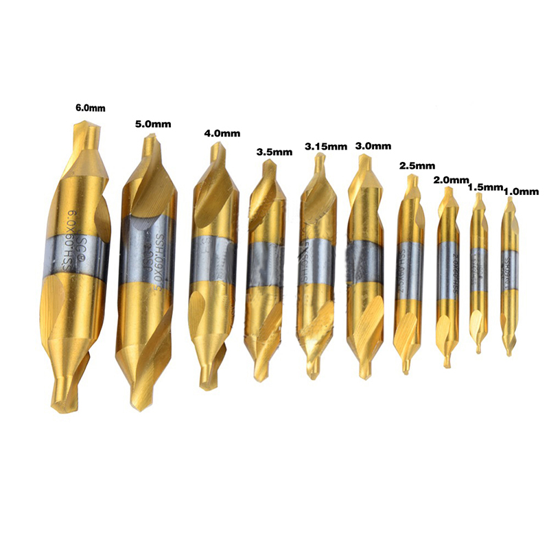 10бр. HSS комбинирани централни свредла, - Свредло - Снимка 1