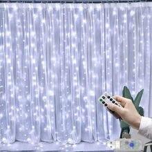 3m led cortina guirlanda na janela luzes da corda usb festão fadas controle remoto decorações de casamento natal para casa quarto