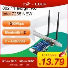 EDUP WiFi PCI Express adaptörü çift bant 5GHz/2.4GHz kablosuz Bluetooth 4.1 PCI E ağ kartı adaptörü için masaüstü windows 10/8/7