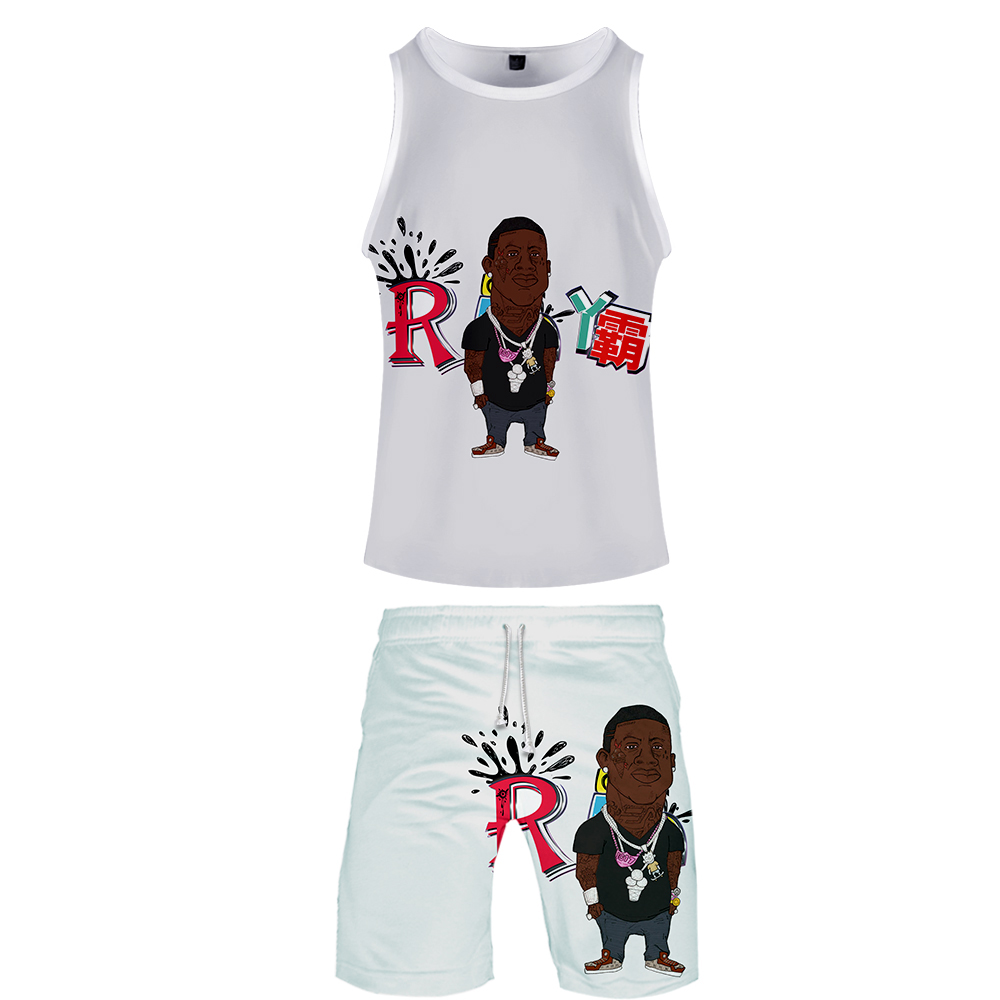 2019 Mane Radric Two Piece Set Tank Top And Shorts Harajuku Men Mane Radric Tank Top Streetwear Basketball Sleeveless Sport Wear
