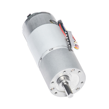 цена на DC Geared Motor with Hall Encoder 12V 24V 10-900rpm Speed Optional Dia 37mm Output Shaft 6mm for DIY Engine Robot 37GB555H