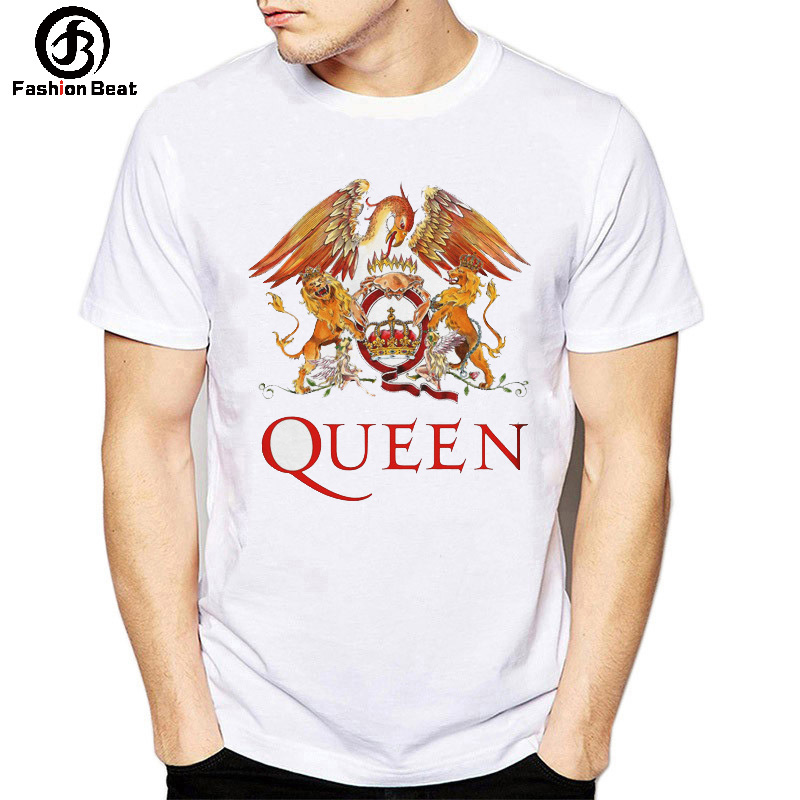 Queen ROCK BAND T Shirt Freddie Mercury Phoenix Lion Animal T shirt Music Champion Tshirt New Autumn Clothes Plus Size Modal Tee in T Shirts from Men 39 s Clothing