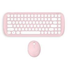 24g мини беспроводная bluetooth клавиатура и мышь в стиле панк