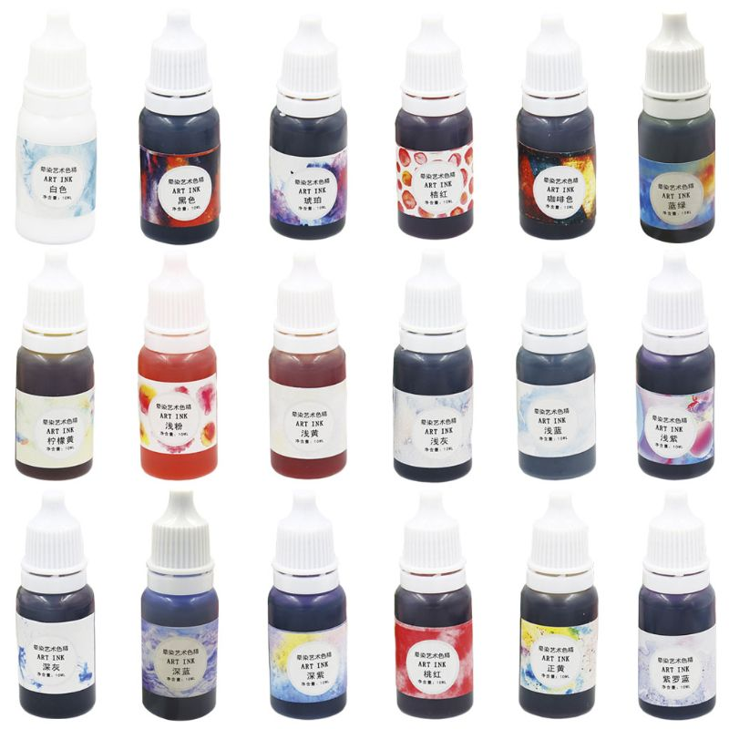 10g DIY Three Generations Fine Crystal Epoxy Dyes Color Rendering Fluid Hand-Made Jewelry Accessories