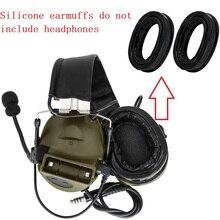 Tactical headset silicone earmuffs ear cushion COMTAC earmuffs for PELTOR headphones COMTAC I II III IV noise reduction headset