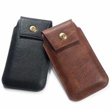 "6.9"" Fashion Waist Packs Phone Case PU Leather Fanny Pack Casual Belt Clip Bag Oukitel Y1000 Pro Y4800 K10 k10000 pro C12 C11(China)"