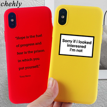 Phone Case for iPhone6s 7 8 11 Plus Pro X XS Max XR Funny Words Cases Soft Silicone Fitted Mobile Back Accessories Covers
