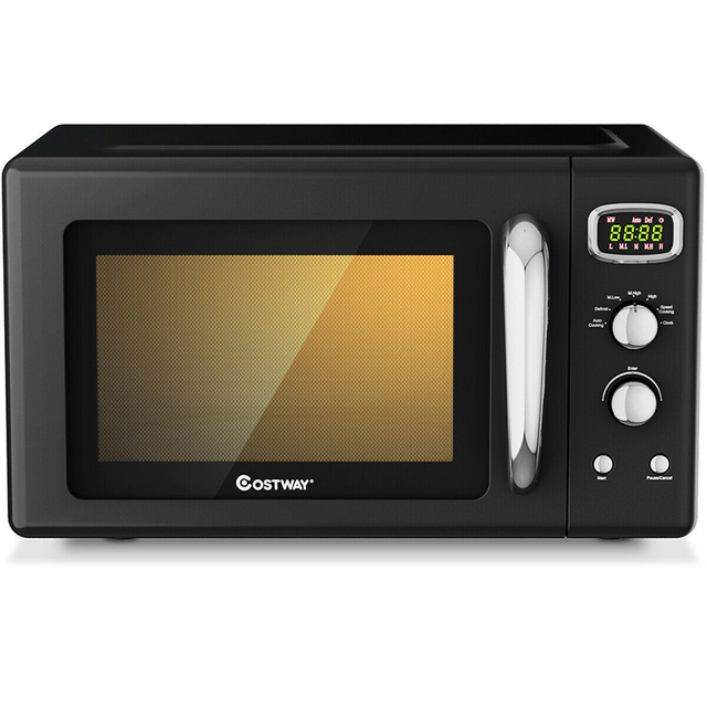 0.9 Cu.ft Microwave Oven Electric Bake Microwave Safe Kitchen Appliances with a Child Lock Function Intelligent Control 5