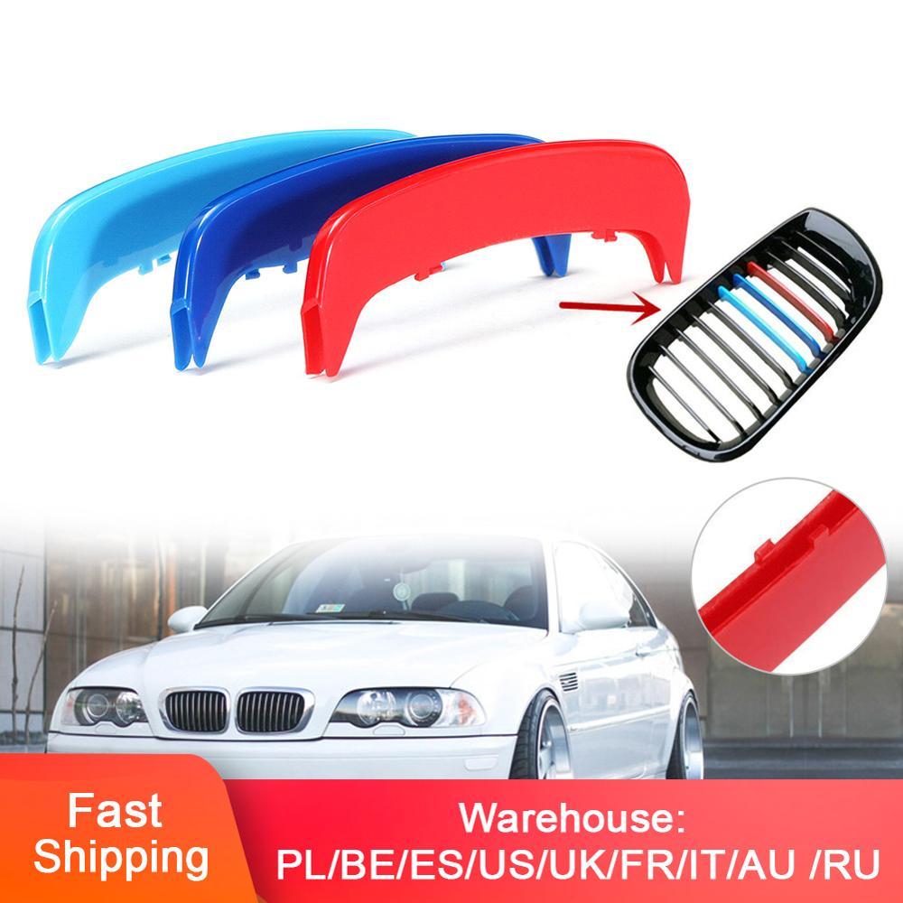 Set di 3 di Colore Da Corsa Griglia Adatto Per BMW Serie 3 E46 2002-2004 Rene Griglia Griglia di Copertura Della Banda clip