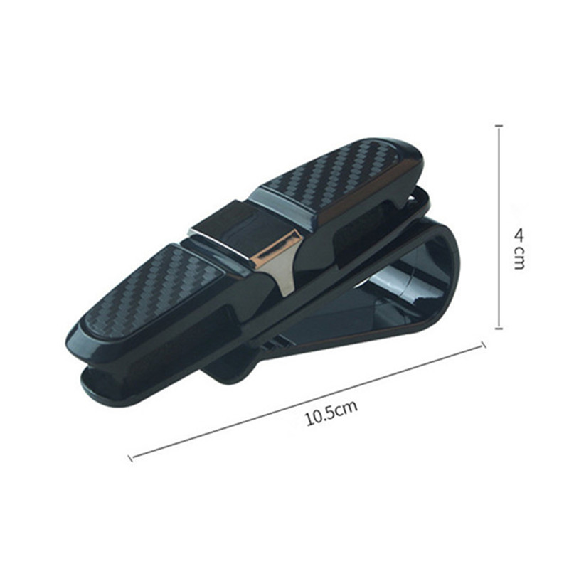 Image 5 - Sunglasses Holder Auto Fastener Cip Glasses Holder Car Accessories Sun Visor Eyeglasses Clip Ticket Card Glasses Cases Black-in Glasses Case from Automobiles & Motorcycles