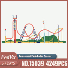 Creator Expert City Amusement Park Roller Coaster 15039 Building Blocks Architecture Assembled Model Kid's Christmas Toys Gifts