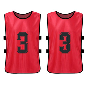 Image 4 - 12 PCS Sports Vest Kids Football Pinnies Quick Drying Soccer Jerseys Youth Sports Scrimmage Training Numbered Bibs Practice