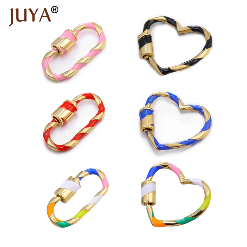 Juya Trendy Lock Hook Spiral Clasps Popular Hanging Chain Pendants DIY Jewelry Making Accessories Necklace Bracelets Hand Made