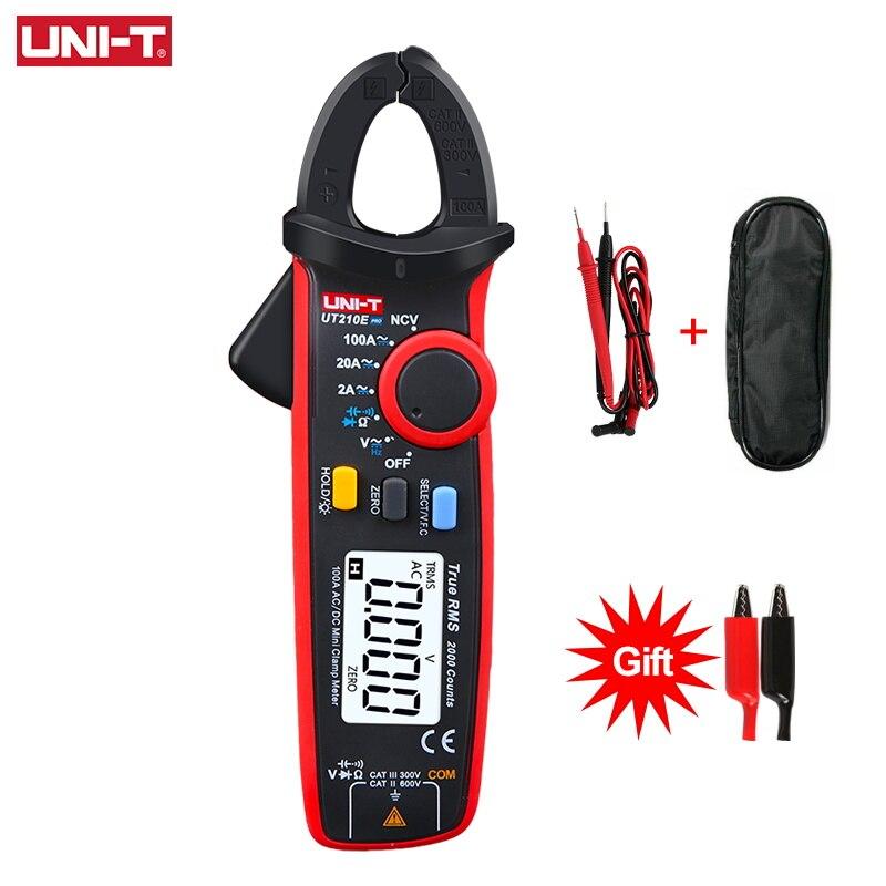 UNI-T UT210E Pro блок мини цифровой AC DC токовый клещи измеритель напряжения вольтметр 100A Амперметр электрический тестер частоты
