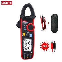 UNI-T ut210e pro unidade mini digital ac dc corrente braçadeira medidor voltímetro tensão 100a amperímetro testador de freqüência elétrica