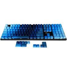 Ocean Blue Gradient kolorów klawisze PBT 87 108 profil OEM ANSI ISO z nadrukiem z jednej strony dla Cherry przełączniki MX dla klawiatury mechaniczne