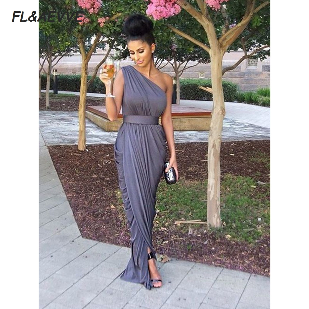 Wholesale Price Sheath Bridesmaid Dresses One-Shoulder Sleeveless Floor-Length Teens Bridesmaid Dress For Wedding Party