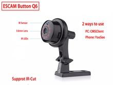 ESCAM Q6 1.0MP 720P Nút Camera Mini Không Dây Wifi Thoại 2 Chiều Trong Nhà IR CUT Tầm Nhìn Ban Đêm Camera Quan Sát Nhà camera IP An Ninh Wifi