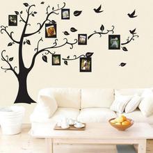 Houshold Tree Design Wall Black Art Photo Frame Memory Stickers Decor Family Sitting Room Decal