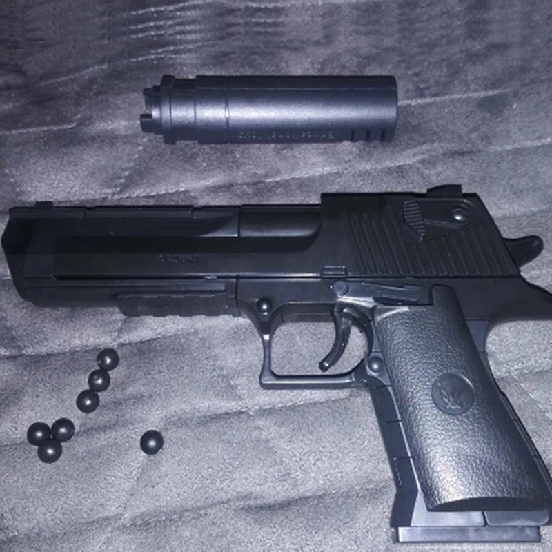 DIY Military Gun Handgun Pistol Desert Eagle Collection Model Can Fire Building Blocks Toys For Kids Boys Gifts Not Weapon