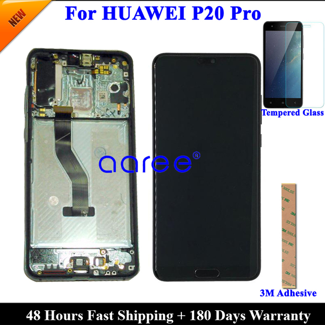 Tested Original Super AMOLED For HUAWEI P20 Pro LCD Display For Huawei P20 Pro  Display LCD Screen Touch Digitizer Assembly