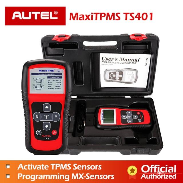 Autel herramienta de diagnóstico TS401 TPMS para neumáticos probador de presión de neumáticos con Sensor MaxiTPMS, 315mhz, 433mhz