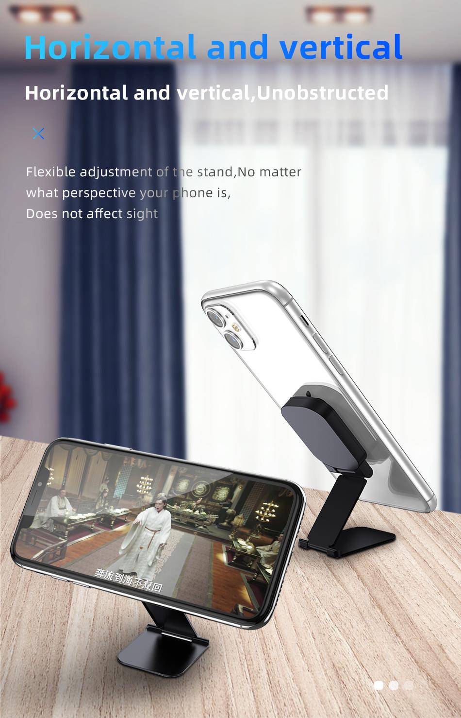 !ACCEZZ Car Magnetic Holder Phone Stand For 11 X Center Console Folding Adjustable Magnet Support Desktop Bracket (8)