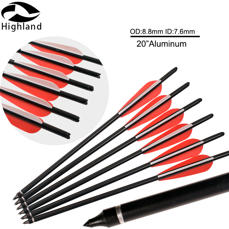 """12 x Aluminum Arrow 20/"""" Crossbow Bolts for Hunting Target Practice Archery"""