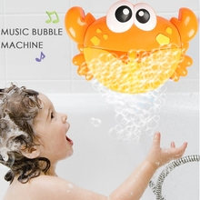 цена на Crab Shape Bubble Maker Wall Mounted Baby Bath Bubble Toy Automatic Blower Machine With 12 Nursery Songs For Infant Baby Kids