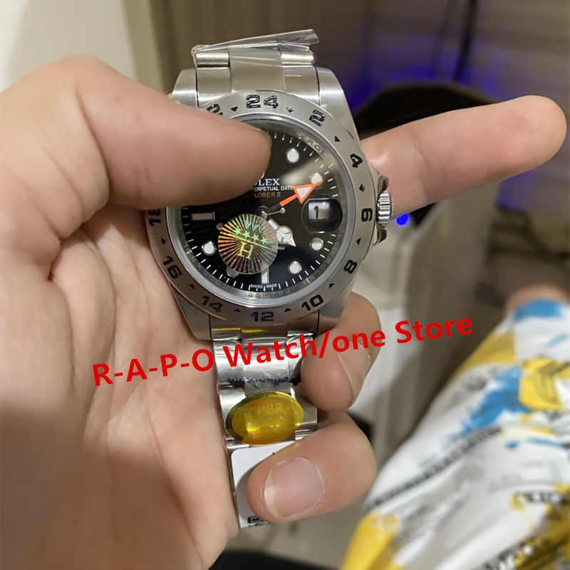 หรูหราอัตโนมัตินาฬิกาสแตนเลส Sapphire ผจญภัยกลางแจ้ง Luminous ปฏิทิน 904L นาฬิกา H Noob
