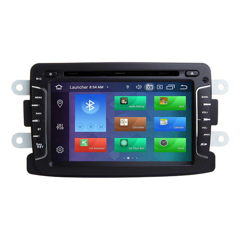 1 din android 9.0 araba radyo multimedya Dacia Lodgy Logan Duster Sandero Renault Captur/Lada/Xray gps navigasyon DVD DSP 4GB