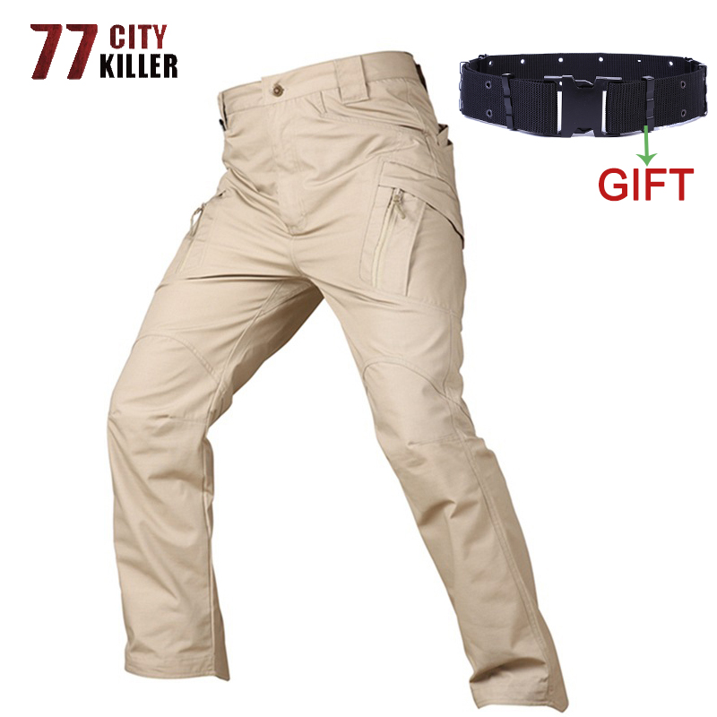 77City Killer Tactical Pants Men Military Style Cargo Pants Male IX9 Combat Trousers Work Trousers SWAT Pocket Baggy Joggers