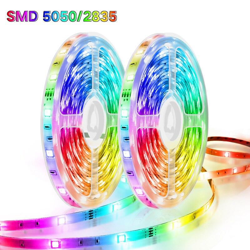 5 м 20 Светодиодные ленты 2835 RGBWW RGB 15 М 5050 AC/DC 12V Светодиодная лента световой полосы RGB теплый белый лента SMD гибкая Диодная лента