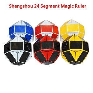 Shengshou линейка Магическая змея Волшебная линейка головоломка 24 скорости антистрессовый куб твист змея Складная развивающая игрушка для реб...
