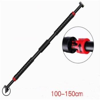 100-150cm Adjustable Door Horizontal Bar Multipurpose wall fitness bar with Non-slip lock